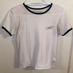 White Vans Shirt with Black Trim